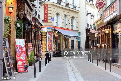 Typical street in Paris, Notre Dame area