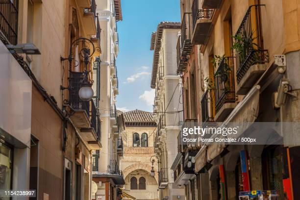 typical street in the center of the city of granada - granada spain stock pictures, royalty-free photos & images