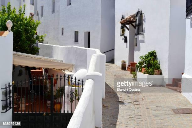 Typical street in Vejer de la Frontera in Cadiz