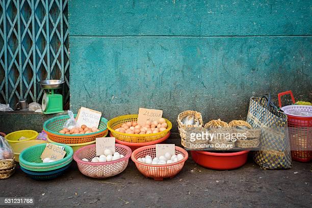 Typical street market, Saigon, Vietnam