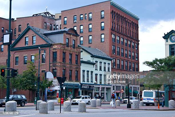 typical street, portland, maine - portland maine stock pictures, royalty-free photos & images