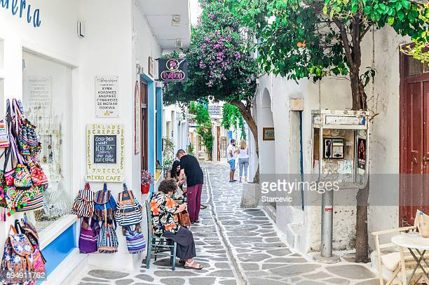 Typical street scene on the Greek Isles