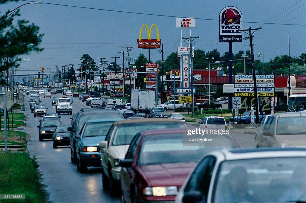 Traffic Along U.S. Highway 412 : News Photo