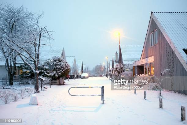 a typical swedish neighbourhood - vaxjo stock pictures, royalty-free photos & images