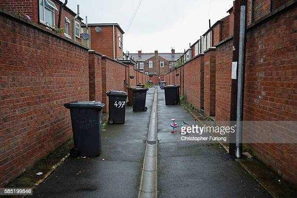 Typical terraced homes in Salford on August 2, 2016 in Salford, England. Home ownership across the country has seen a sharp drop across Britain,...