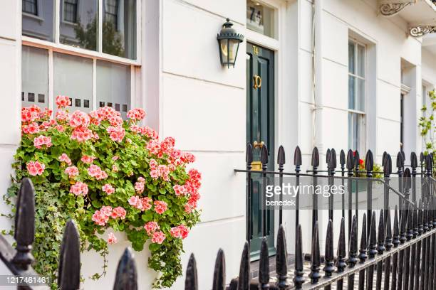 typical townhouse in pimlico london england uk - central london stock pictures, royalty-free photos & images