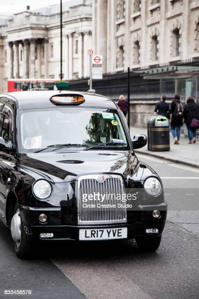 Typical Traditional British Taxi Cab