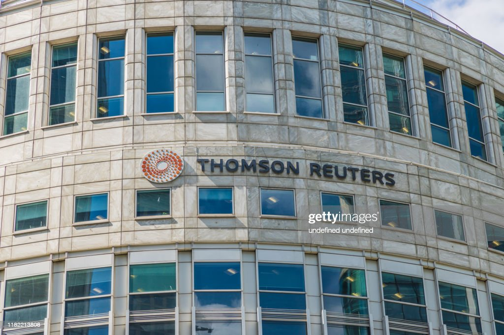 A typical view in canary wharf in London : Stock Photo