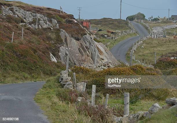 A typical view in Western Connemara area near Cleggan Connemara County Galway Ireland Photo Artur Widak /NurPhoto