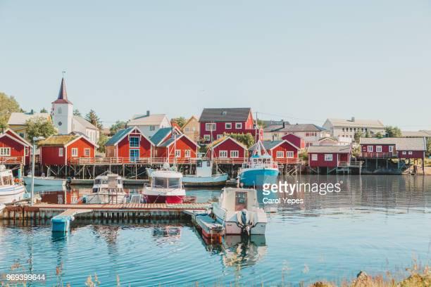 typical view of lofoten island, norway - arquipélago - fotografias e filmes do acervo