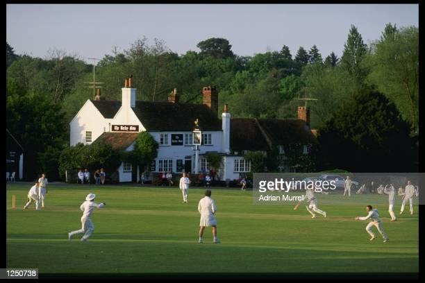 A typical village cricket match in progress at Tilford in Surrey Mandatory Credit Adrian Murrell/Allsport UK