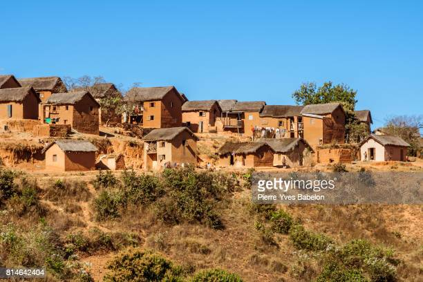 typical village - antananarivo stock photos and pictures