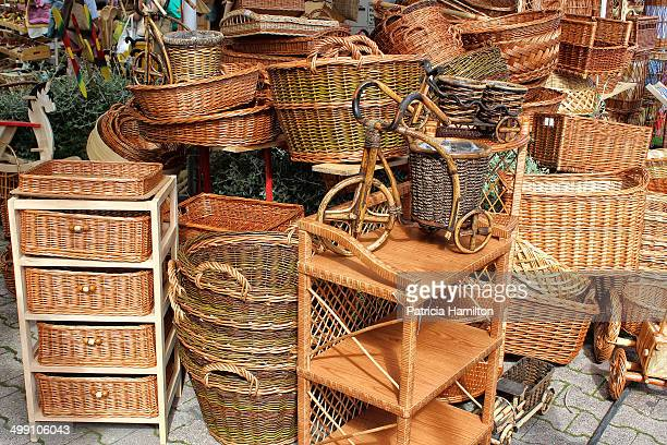 CONTENT] Typical wicker goods for sale in a stall in Split Croatia Locally made items Manmade souvenirs and useful household objects wickerwork and...