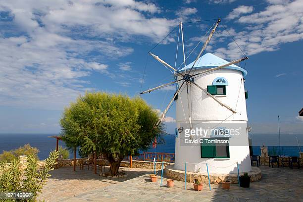 Typical windmill, Cape Skinari, Zakynthos, Greece