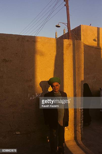 Typical Yazdi man with a green turban seen in the old town in Yazd, Iran on October 2, 1995.