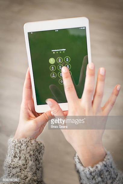 Typing password
