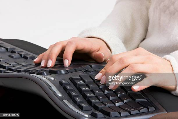 typing - ergonomics stock photos and pictures