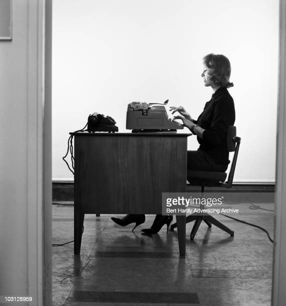 A typist at work at an office in Baker Street London 14th November 1961