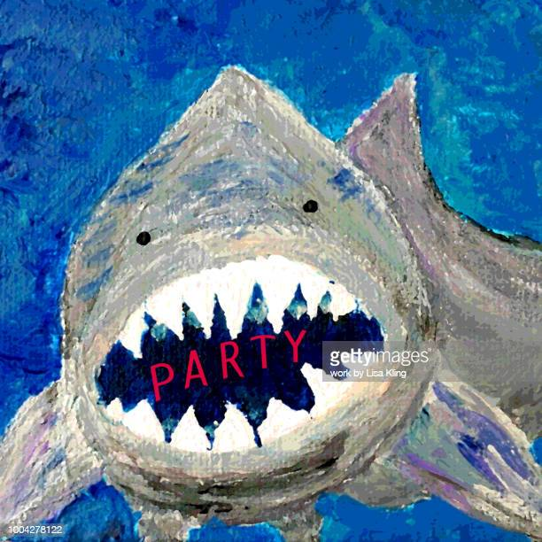 Typography: Shark Party Invitation