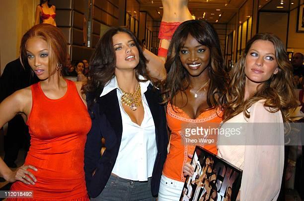 Tyra Banks Adriana Lima Oluchi Onweagba and Gisele Bundchen