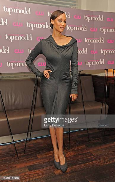Tyra Banks and celebrates the cycle 15 premiere of America's Next Top Model at Marea on September 8 2010 in New York City