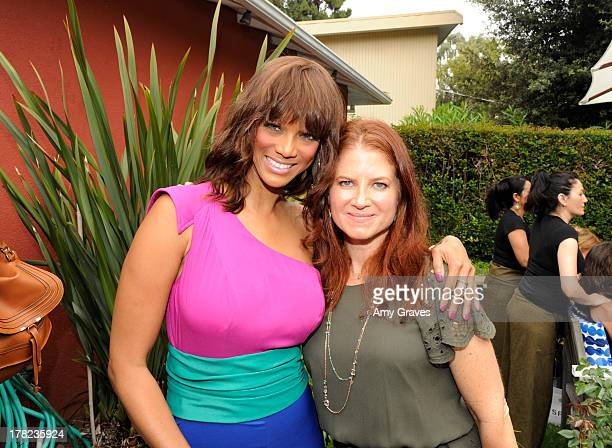 Tyra Banks and Jen Klein attend the annual Jen Klein Day of Indulgence Summer Party on August 14 2011 in Los Angeles California