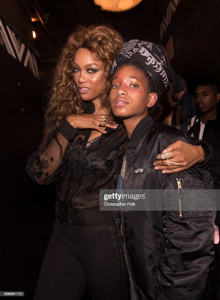 Tyra Banks and Willow Smith backstage at The Fonda Theatre on August 20, 2017 in Los Angeles, California.
