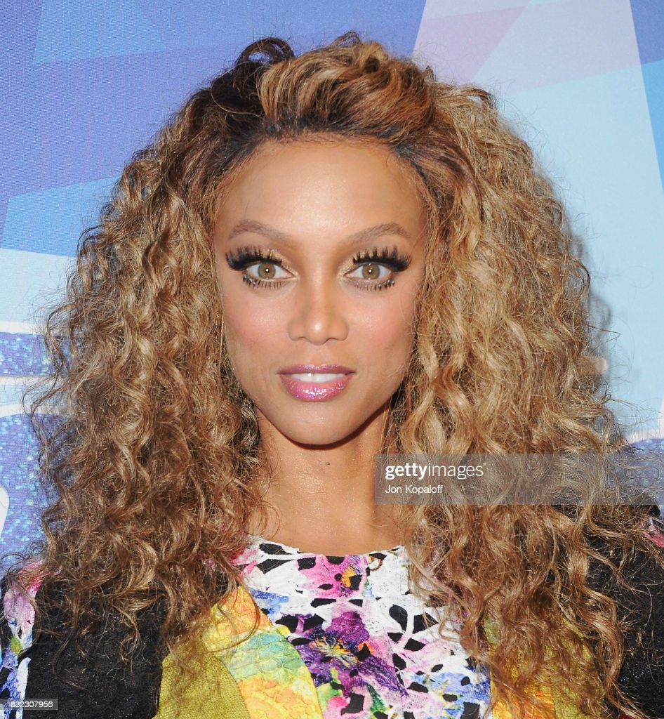Tyra Banks arrives at NBC's 'America's Got Talent' Season 12 Live Show at Dolby Theatre on August 15, 2017 in Hollywood, California.