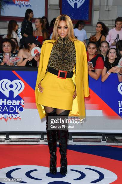 Tyra Banks arrives at the 2018 iHeartRADIO MuchMusic Video Awards at MuchMusic HQ on August 26 2018 in Toronto Canada