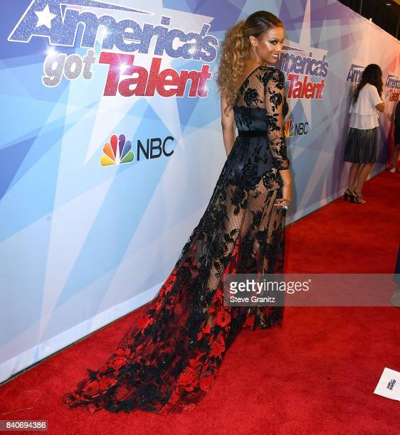 Tyra Banks arrives at the NBC's 'America's Got Talent' Season 12 Live Show at Dolby Theatre on August 29 2017 in Hollywood California