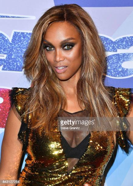 Tyra Banks arrives at the NBC's 'America's Got Talent' Season 12 Live Show at Dolby Theatre on September 5 2017 in Hollywood California