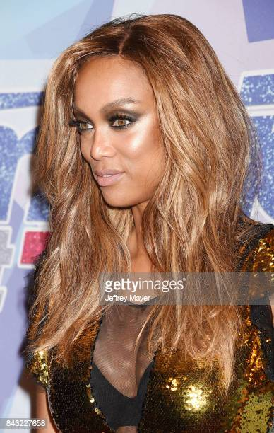 Tyra Banks arrives at the NBC's 'America's Got Talent' Season 12 Live Show at the Dolby Theatre on September 5 2017 in Hollywood California