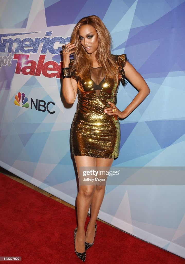 Tyra Banks arrives at the NBC's 'America's Got Talent' Season 12 Live Show at the Dolby Theatre on September 5, 2017 in Hollywood, California.