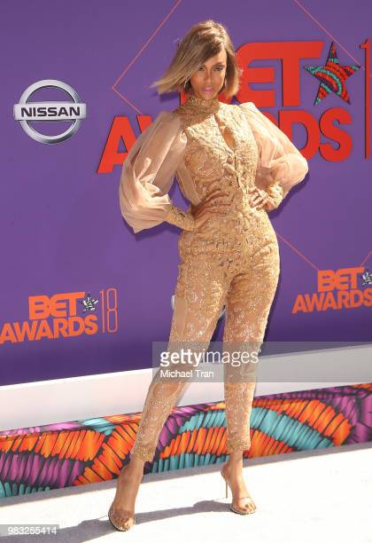 Tyra Banks arrives to the 2018 BET Awards held at Microsoft Theater on June 24 2018 in Los Angeles California