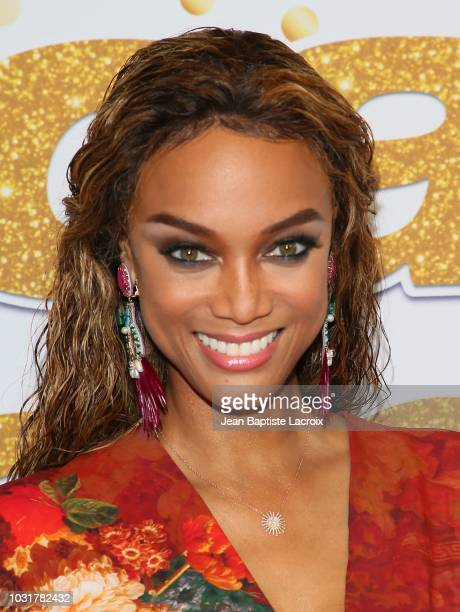 Tyra Banks attends America's Got Talent Season 13 Live Show Red Carpet on September 11 2018 in Los Angeles California