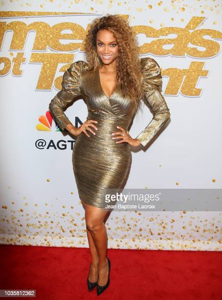 Tyra Banks attends 'America's Got Talent' Season 13 Live Show Red Carpet on September 18 2018 in Los Angeles California