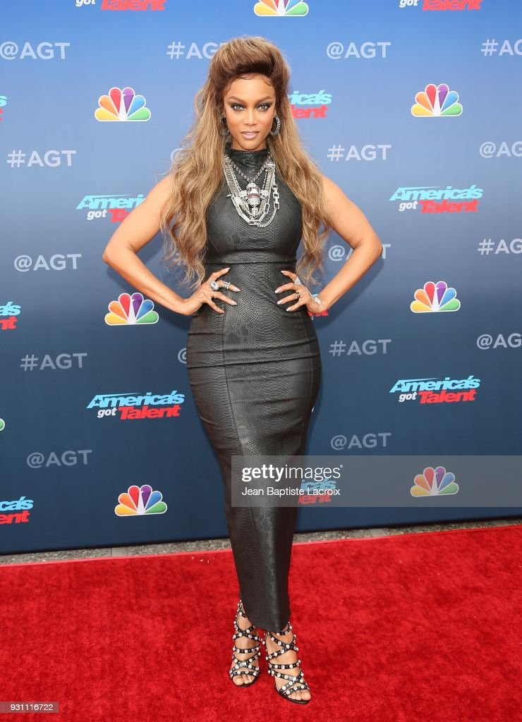 Tyra Banks attends 'America's Got Talent' Season 13 on March 12, 2018 in Pasadena, California.