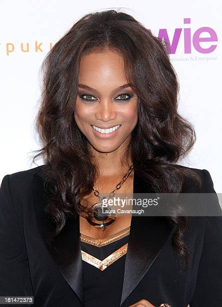 Tyra Banks attends day 2 of the 4th Annual WIE Symposium at Center 548 on September 21 2013 in New York City