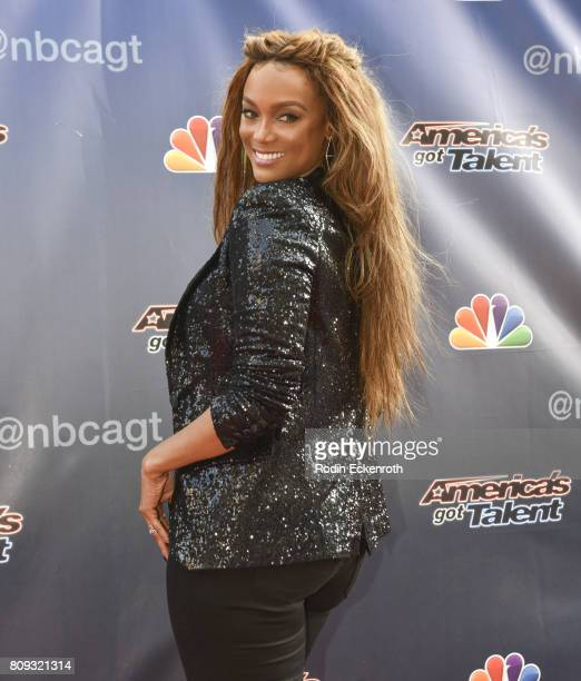 Tyra Banks attends NBC's 'America's Got Talent' Judge Cut Rounds at NBC Universal Lot on April 27 2017 in Universal City California