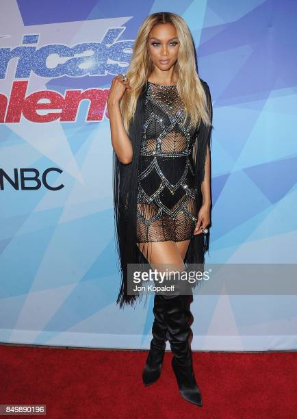 Tyra Banks attends NBC's 'America's Got Talent' Season 12 Finale Week at Dolby Theatre on September 19 2017 in Hollywood California