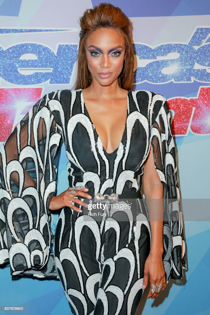 Tyra Banks attends NBC's 'America's Got Talent' Season 12 Live Show at Dolby Theatre on August 22, 2017 in Hollywood, California.