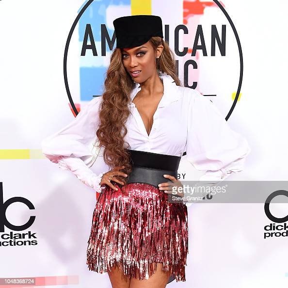 Tyra Banks Music Video: Tyra Banks Attends The 2018 American Music Awards At