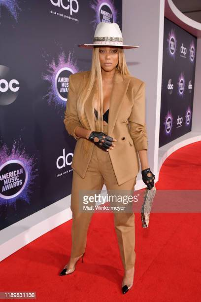 Tyra Banks attends the 2019 American Music Awards at Microsoft Theater on November 24 2019 in Los Angeles California