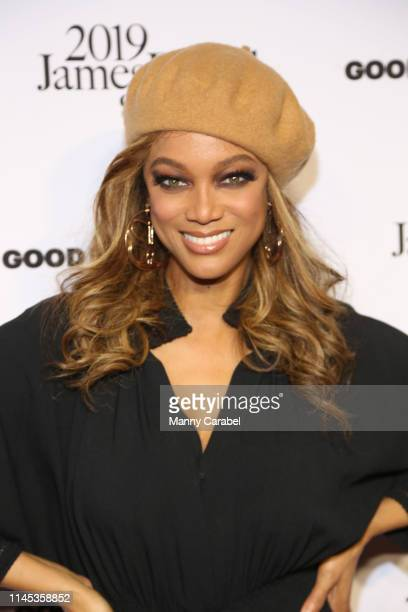 Tyra Banks attends the 2019 James Beard Foundation Media Awards Gala at Pier Sixty at Chelsea Piers on April 26 2019 in New York City