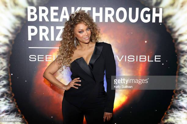 Tyra Banks attends the 2020 Breakthrough Prize at NASA Ames Research Center on November 03, 2019 in Mountain View, California.