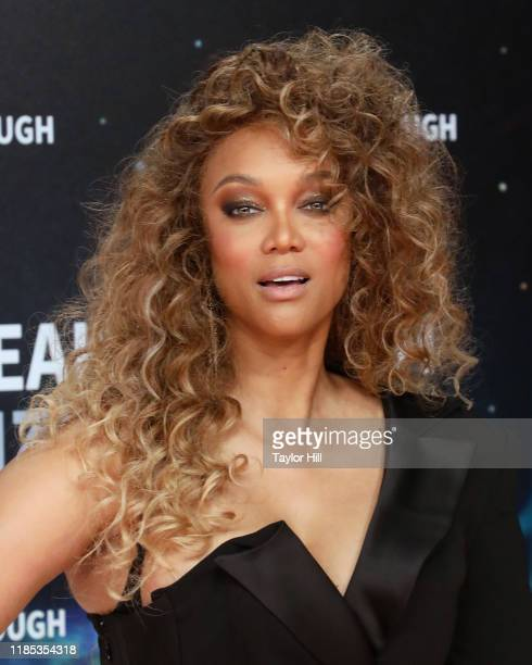 Tyra Banks attends the 2020 Breakthrough Prize Ceremony at NASA Ames Research Center on November 03, 2019 in Mountain View, California.