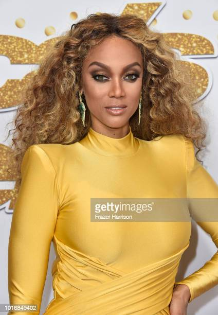 Tyra Banks attends the 'America's Got Talent' Season 13 Live Show at Dolby Theatre on August 14 2018 in Hollywood California