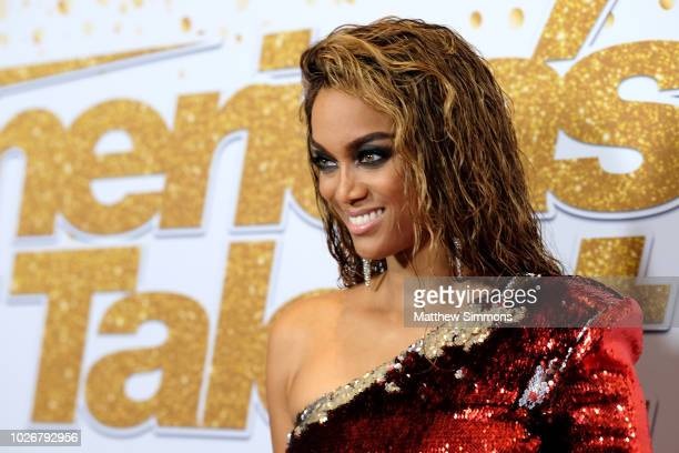 """Tyra Banks attends the """"America's Got Talent"""" Season 13 Live Show at Dolby Theatre on September 4, 2018 in Hollywood, California."""