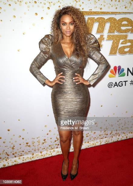 Tyra Banks attends the America's Got Talent Season 13 Live Show Red Carpet at the Dolby Theatre on September 18 2018 in Hollywood California