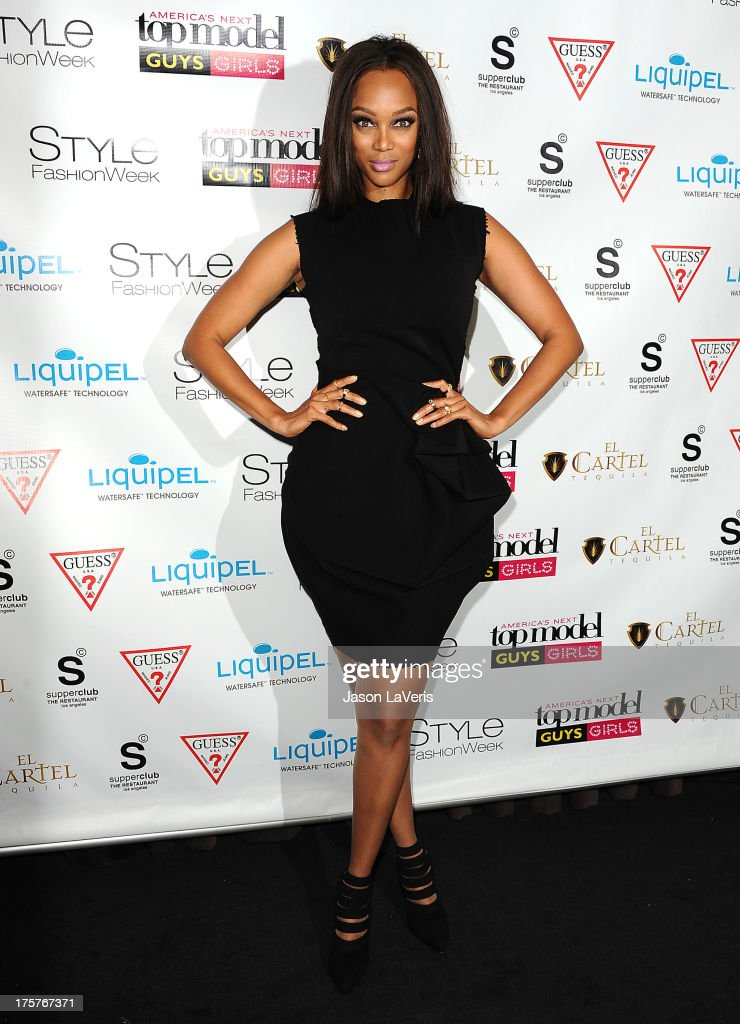Tyra Banks attends the 'America's Next Top Model' 20th cycle gala celebration at SupperClub Los Angeles on August 7, 2013 in Los Angeles, California.